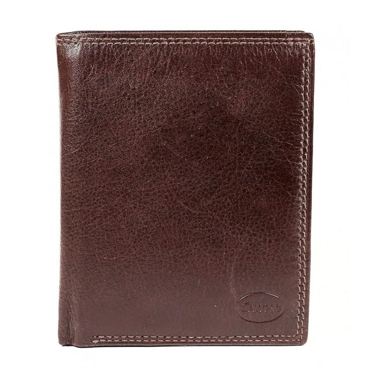 Kožená peněženka 1128 tmavě hnědá Calypso