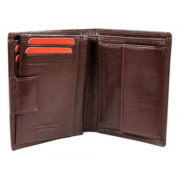 Kožená peňaženka 1128 tmavohnedá Calypso Hnedá