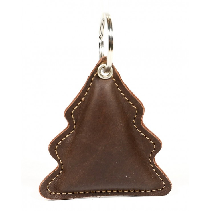 Leather key chains MI179 Tree brown