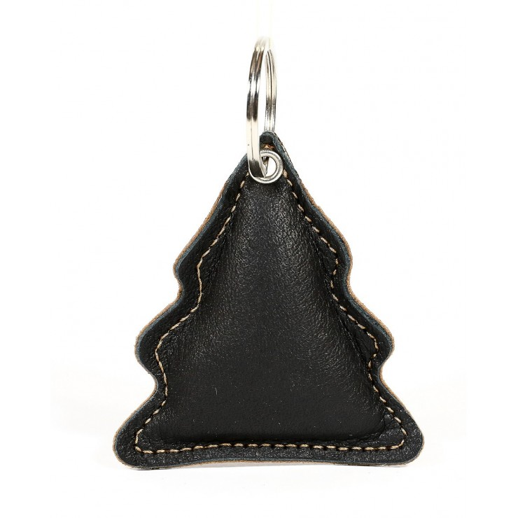Leather key chains MI179 Tree cognac