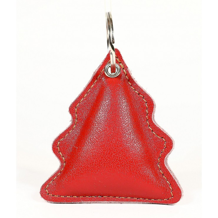 Leather key chains MI179 Tree red