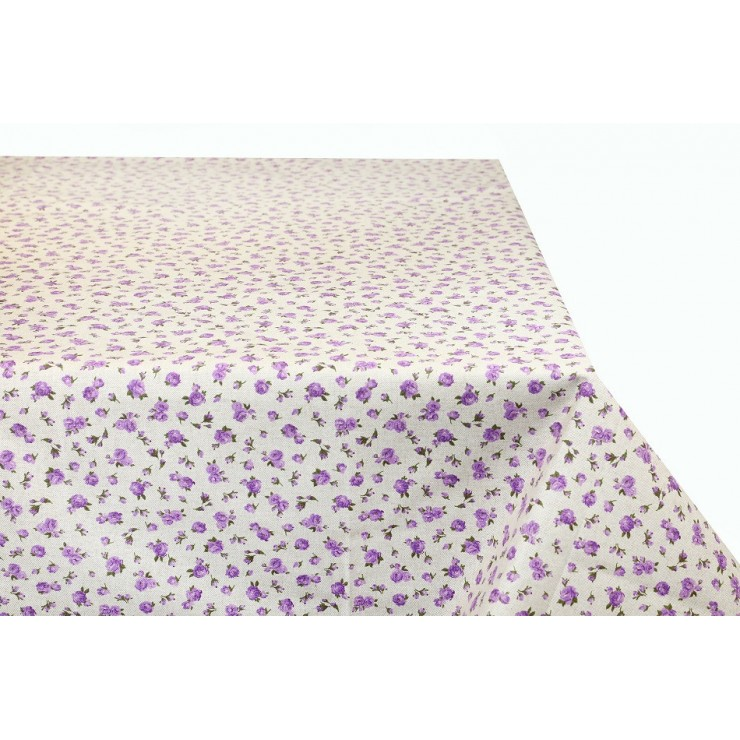 Tablecloth Violet Flowers Made in Italy