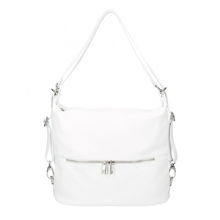 Kožená kabelka na rameno/batoh 328 biela