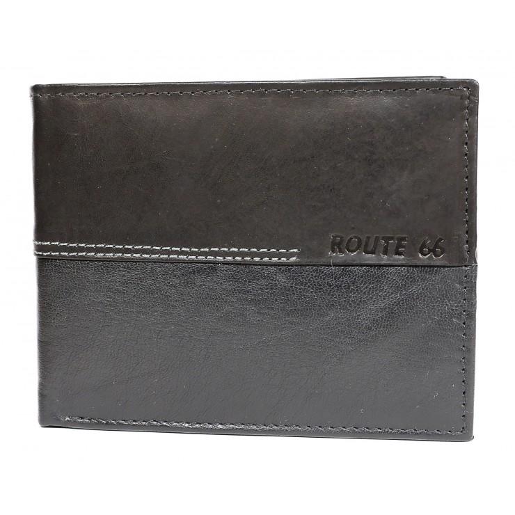 Pánska kožená peňaženka 622 čierna Route 66