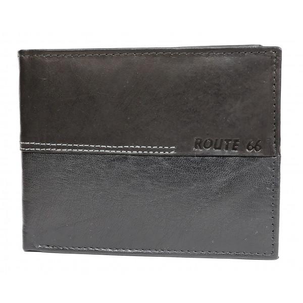 Pánska kožená peňaženka 622 čierna Route 66 Čierna