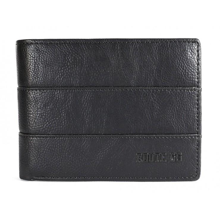 Pánska kožená peňaženka 1034 čierna Route 66