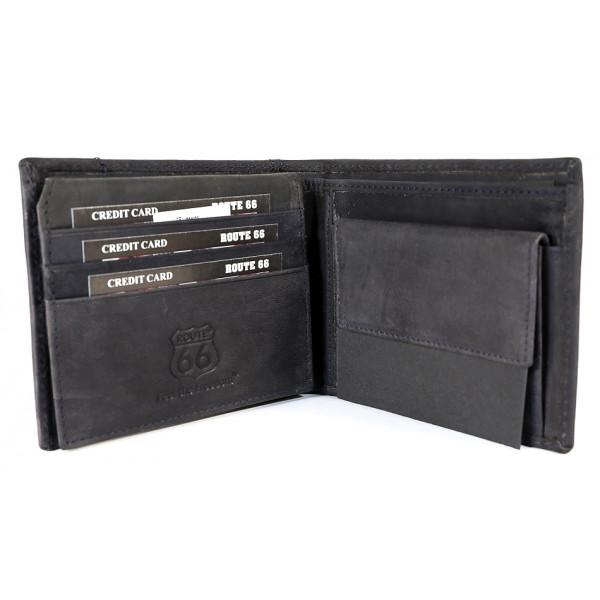 Pánska kožená peňaženka 1032 jeans Route 66 Jeans