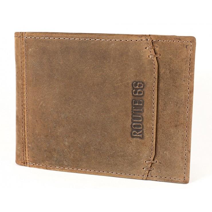 Pánská kožená peněženka 1032 koňak Route 66
