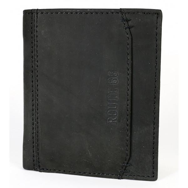 Pánska kožená peňaženka 520 čierna Route 66 Čierna