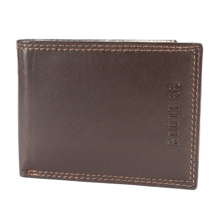 Pánska kožená peňaženka 1028 tmavohnedá Route 66