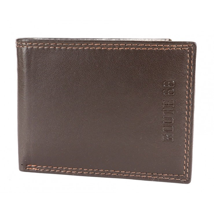 Pánská kožená peněženka 1028 tmavě hnědá Route 66