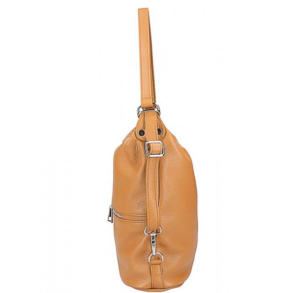 Kožená kabelka na rameno/batoh 328 koňak