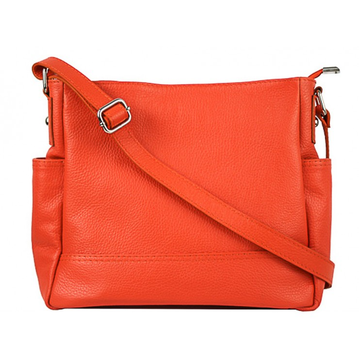 Leather shoulder bag 1214 salmon Made in Italy