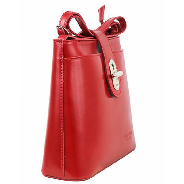 Kožená kabelka na rameno 118 fuchsia Made in Italy Fuchsia