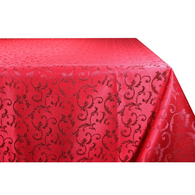 Jacquard table cloth Princess 928 dark red