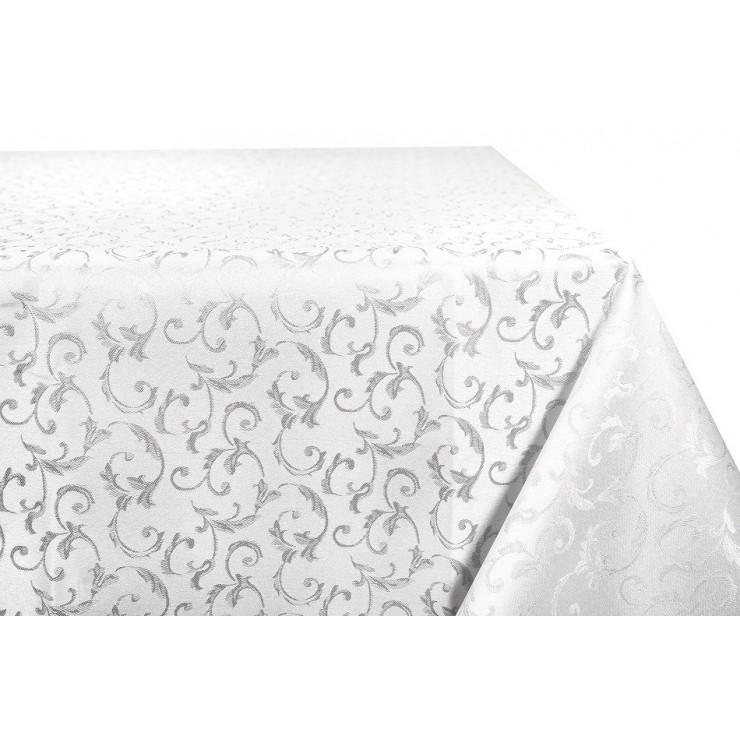 Jacquard table cloth Princess 928 silver