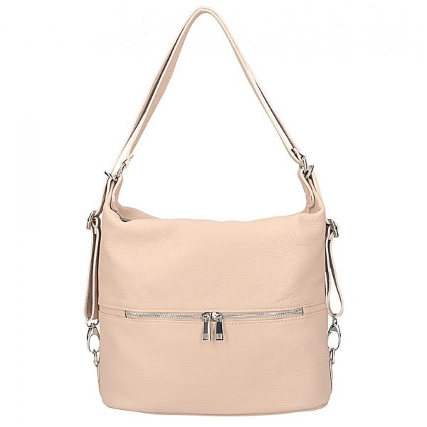 76513ce0b9 Kožená kabelka na rameno batoh 328 ružová - MONDO ITALIA s.r.o.