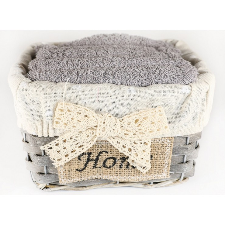 Gift set of 5 pcs gray towels Fiocco