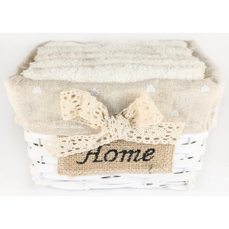 Darčekový set 5 ks krémových uterákov Fiocco