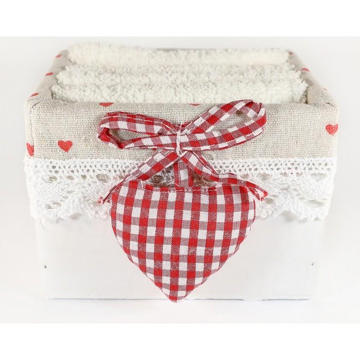 Darčekový set 4 ks bielych uterákov Ortisei