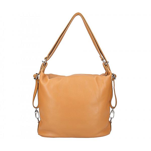 Kožená kabelka na rameno/batoh 328 červená