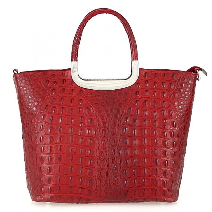 Genuine Leather Handbag 1140 red