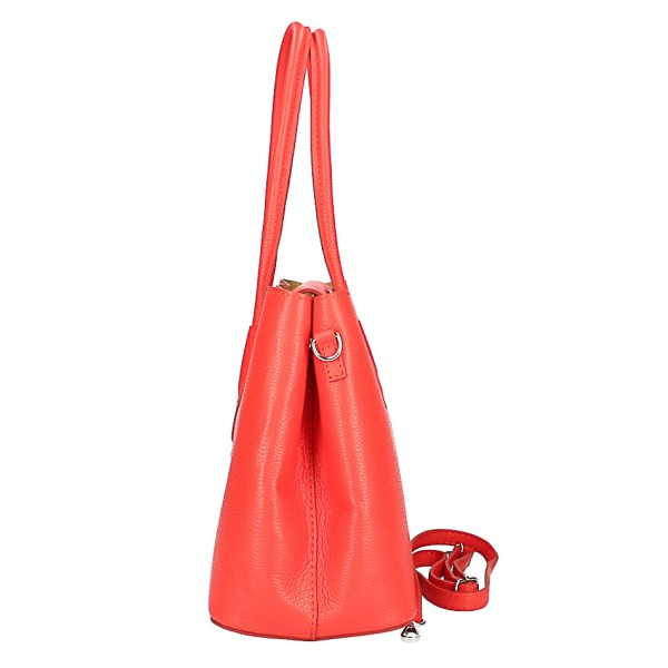 Kožená kabelka 521 tmavomodrá Made in Italy Modrá