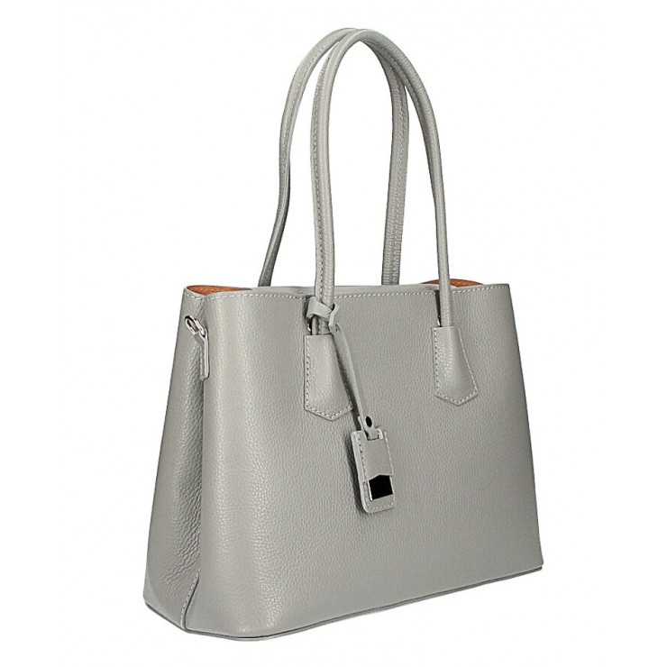 Genuine leather shoulder bag 521 gray Made in Italy