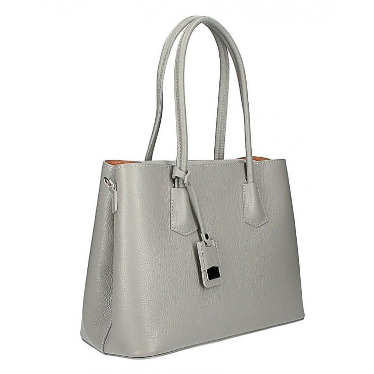 Kožená kabelka 521 šedá Made in Italy