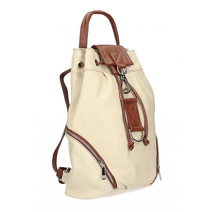 Kožený batoh 518 béžový Made in Italy