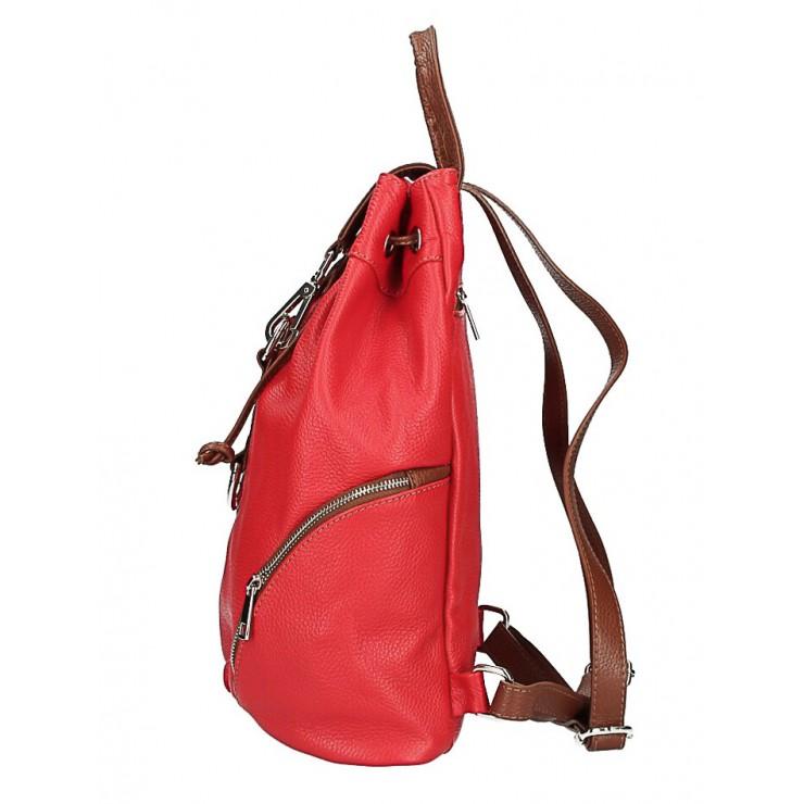 Kožená kabelka do ruky 5307 tmavomodrá