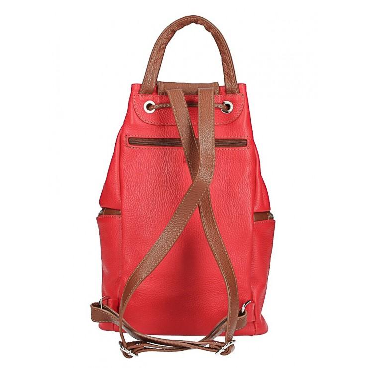 Kožená kabelka do ruky 5307 azurovo modrá