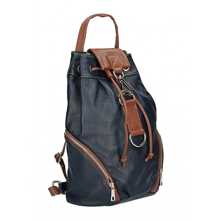 Kožený batoh 518 tmavomodrý Made in Italy