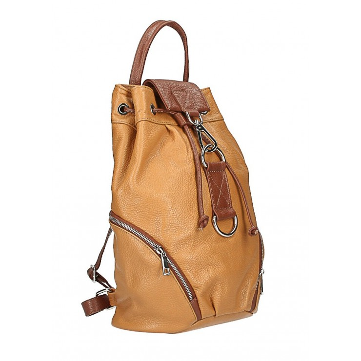 Kožená kabelka do ruky 5307 šedohnedá