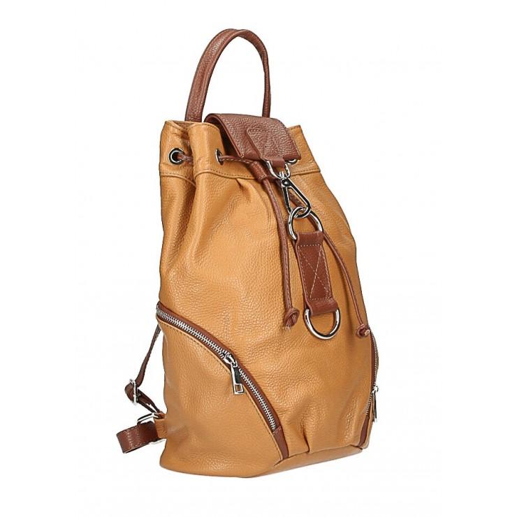 Kožený batoh 518 koňakový Made in Italy