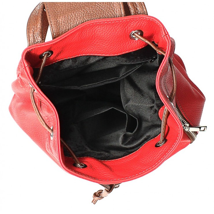 Kožená kabelka do ruky 5307 červená