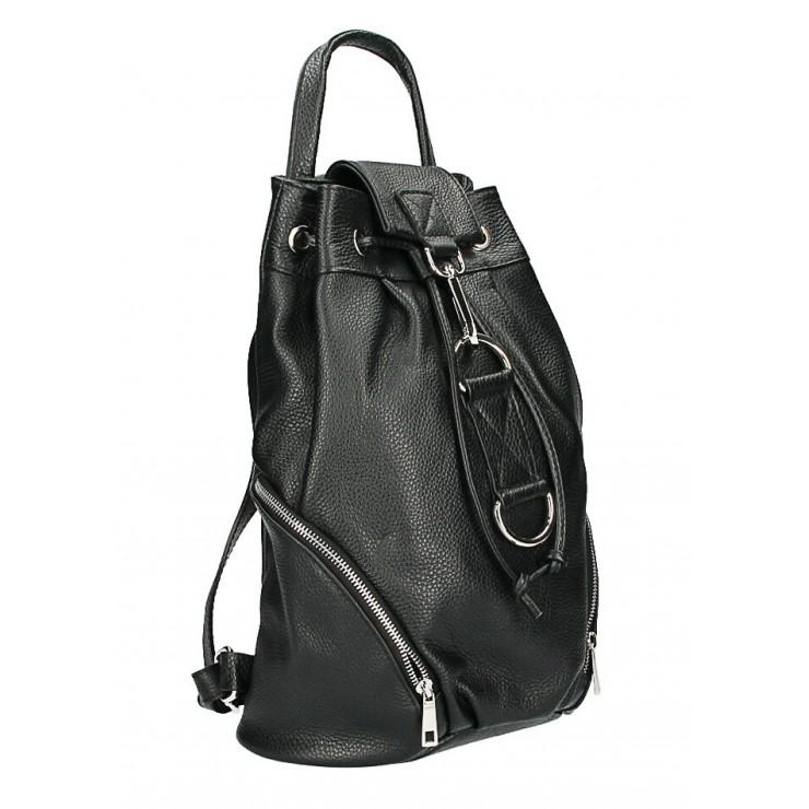 Kožený batoh 518 čierny Made in Italy