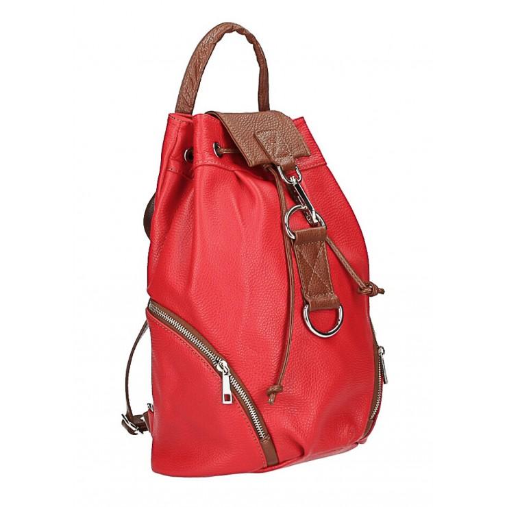 Kožený batoh 518 rudý Made in Italy