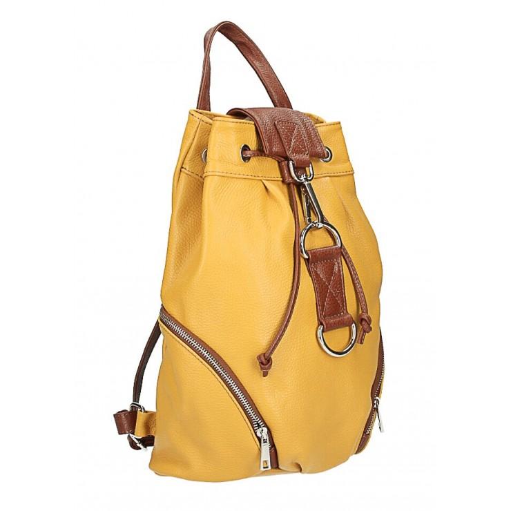 Kožený batoh 518 okrový Made in Italy