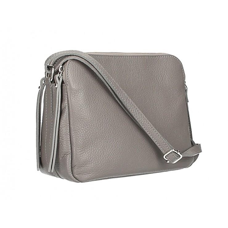 Genuine Leather Handbag 517 dark gray Made in Italy