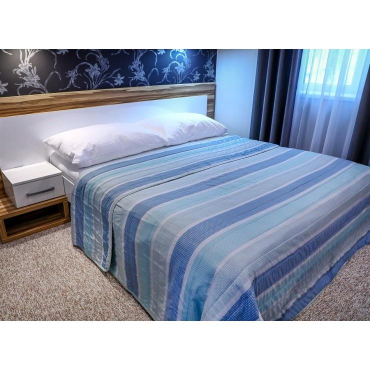 Přehoz na postel 701S Sunset tyrkysově-modrý Made in Italy
