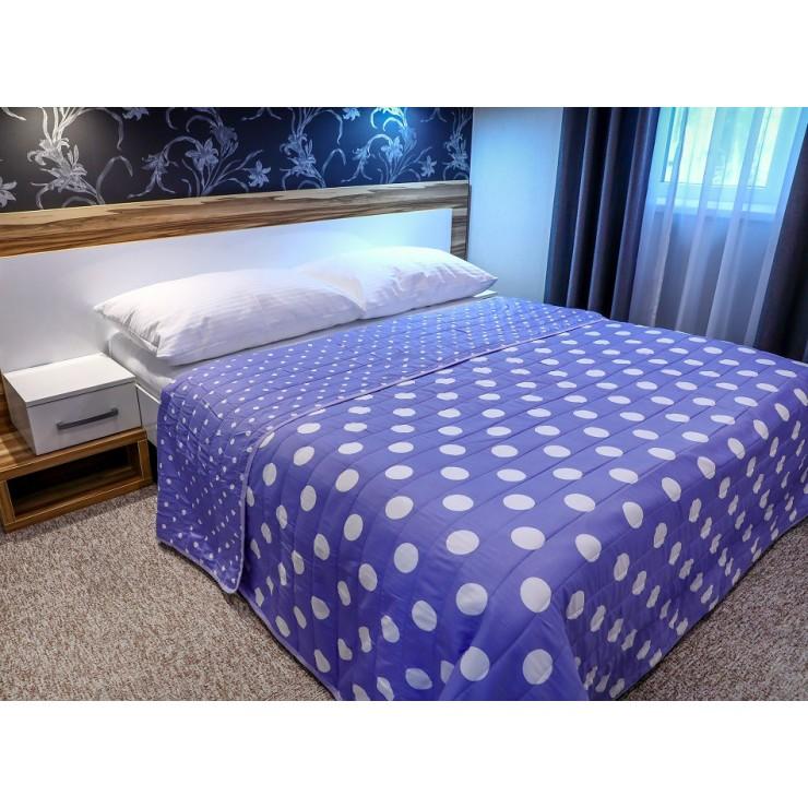 Prehoz na posteľ  701P Pois fialový Made in Italy