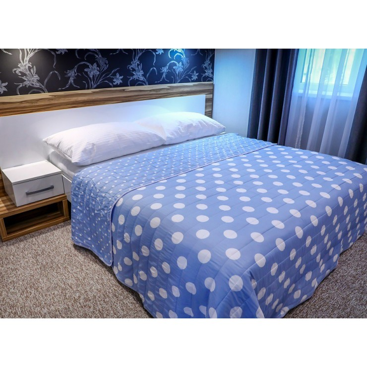 Quilt 701P Pois light blue Made in Italy