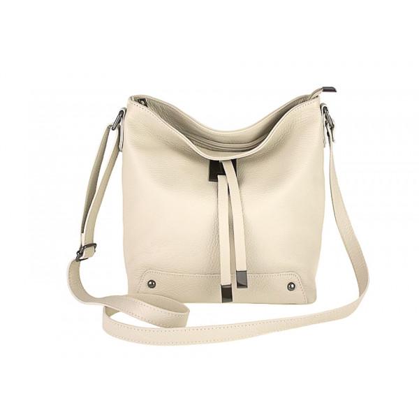 Kožená kabelka na rameno 825 béžová