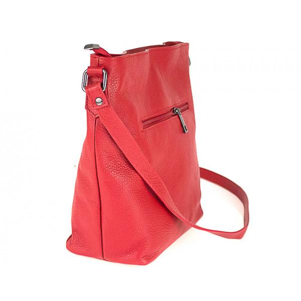 Kožená kabelka na rameno 825 béžová Béžová