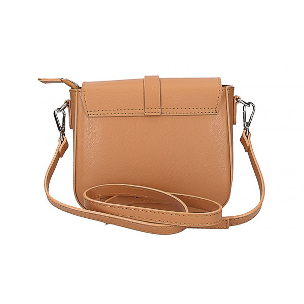 Dámska kožená kabelka na rameno 5328 tmavomodrá