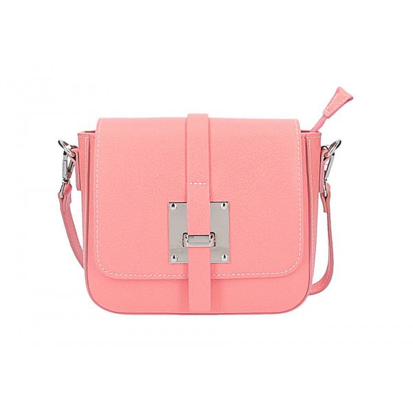 4555a5eaaf Dámska kožená kabelka na rameno 5328 ružová - MONDO ITALIA s.r.o.