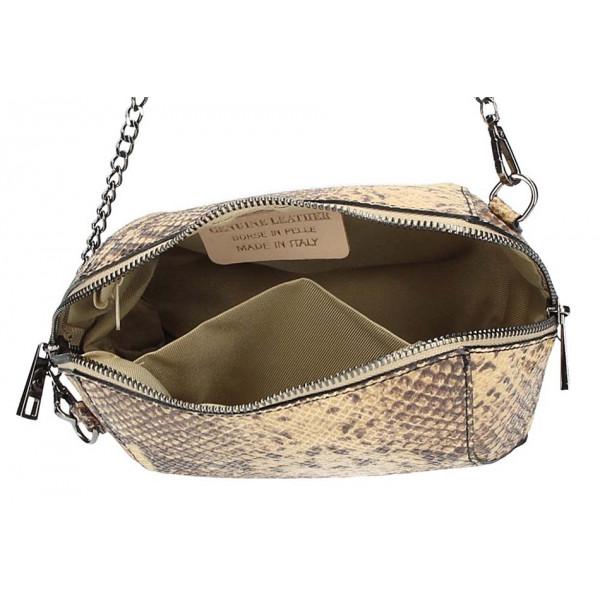 Spoločenská kabelka 126 strieborná SOLO SOPRANI