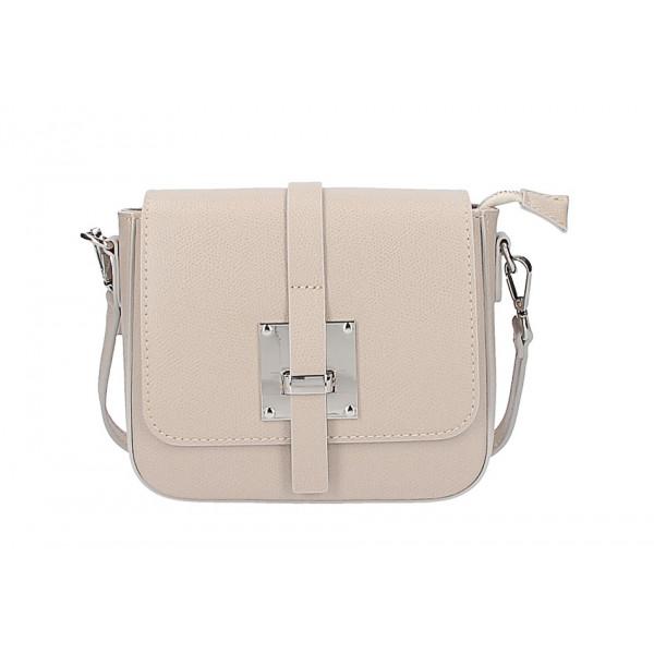 3cc52575e7 Dámska kožená kabelka na rameno 5328 šedohnedá - MONDO ITALIA s.r.o.