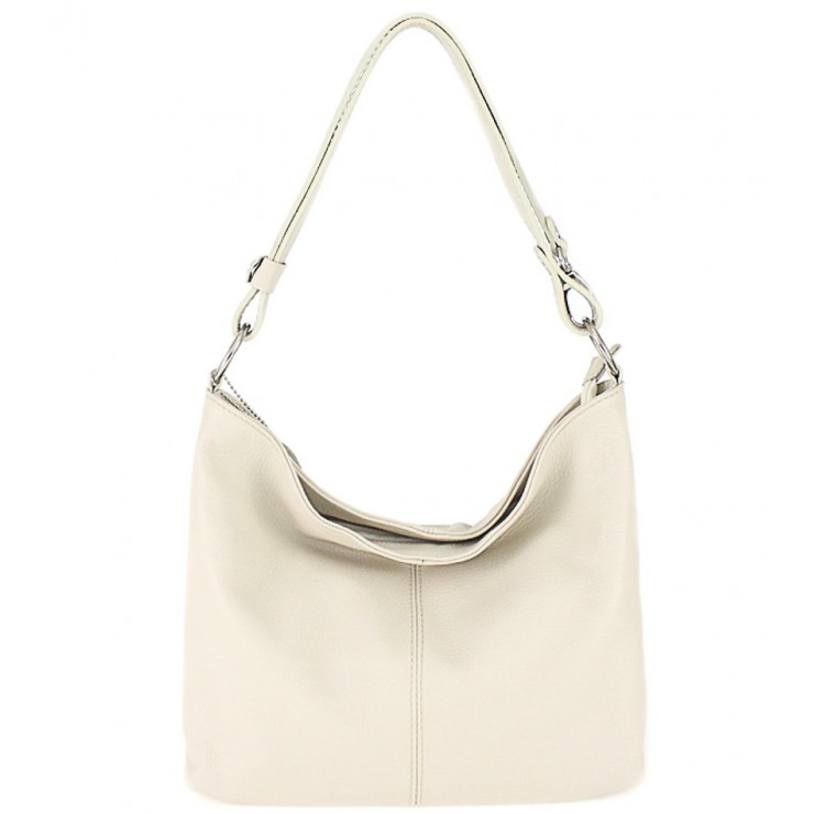 Genuine Leather Handbag 729 beige